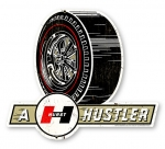 "Hurst Hustler Wheel Sign 17""x15"""
