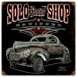 SOLO Speed Shop Willys Sign (P)
