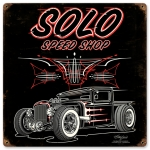 SOLO Speed Shop Hauler Sign