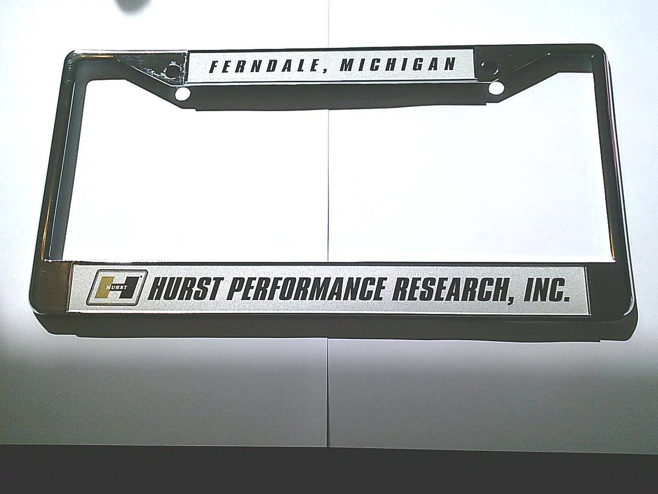 Hurst Performance Research License Plate Frame