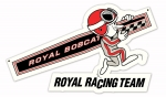 Royal Racing Team Die Cut Sign