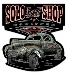SOLO Speed Shop Willys Die Cut Sign