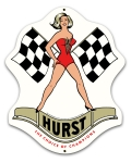 Hurst Motor Mount Girl Die Cut Sign