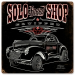 SOLO Speed Shop Willys Sign (B)